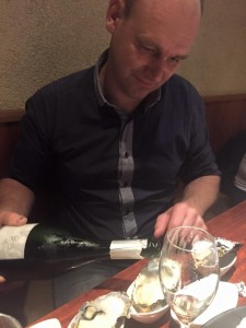 champagne aux huitres